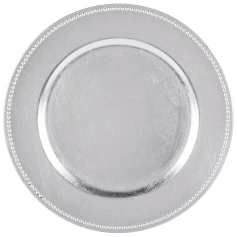 beaded plate chargers import 1180006ld f acrylic silver beaded 13