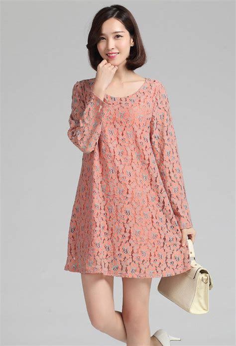 Dress Cantik Tanpa Lengan Blue Pink dress lace korea baju korea asli big size dress cantik