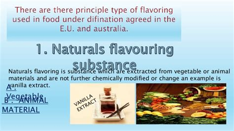 types  flavouring