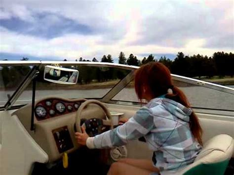 boat driving 12 year old girl driving boat youtube