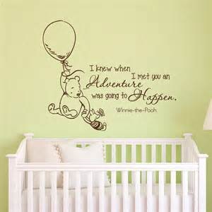 wall decals quotes classic winnie the pooh i knew by winnie the pooh wall decals nursery classic winnie the pooh