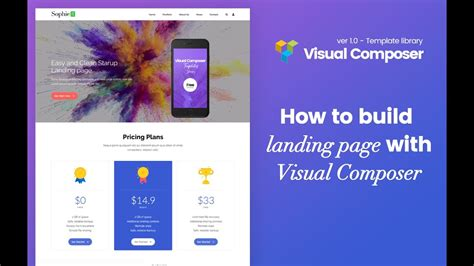 Visual Composer Landing Page Template Visual Composer Build Landing Page With Plugin Vc Template Liblary Youtube