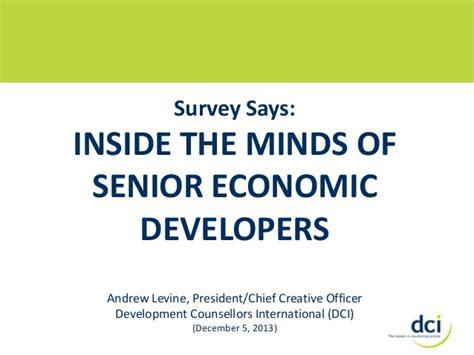 survey of senior economic developers