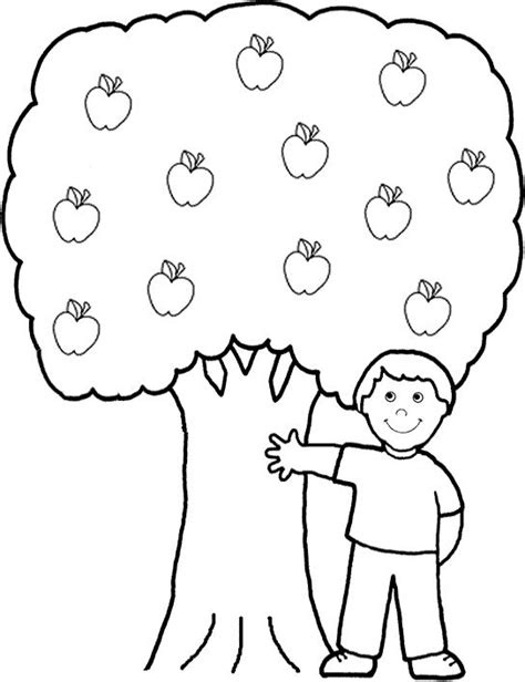 preschool coloring pages apple tree 49 best images about color sheets on pinterest preschool