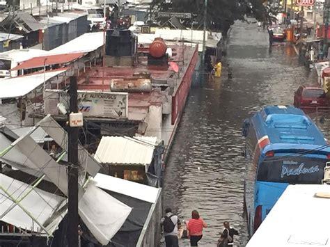 imagenes inundacion indios verdes encharcamientos paralizan zona de indios verdes jos 233