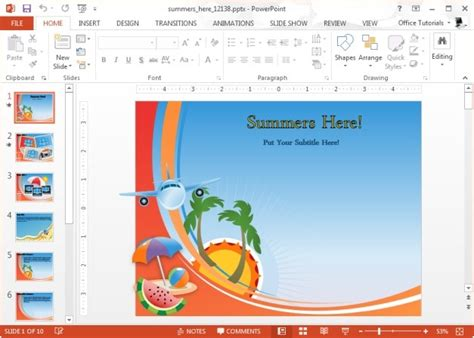powerpoint summer templates animated summer powerpoint template