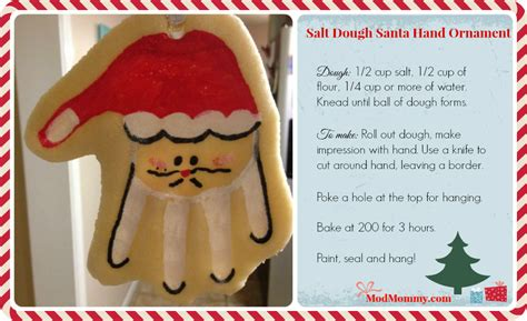 make it salt dough santa hand ornament rhode island
