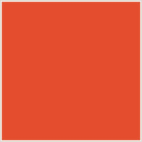 cinnabar color e44d2e hex color rgb 228 77 46 cinnabar orange
