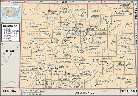 colorado map cities towns state and county maps of colorado