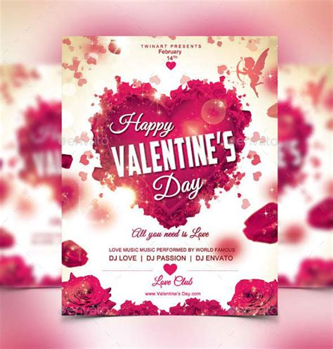 valentines day flyer 17 best valentines day flyers cards templates 2017