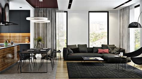 modern kitchen living rooms delightful examples