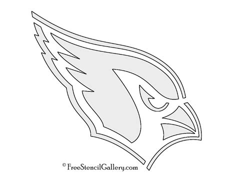 nfl cardinals coloring pages nfl arizona cardinals stencil free stencil gallery