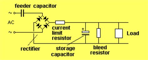 capacitor value in power supply the power supply