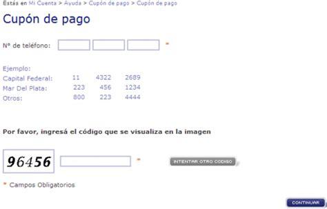 imprimir cupon de pago youtube wwwtelecomcomar imprimir factura micuenta factura online