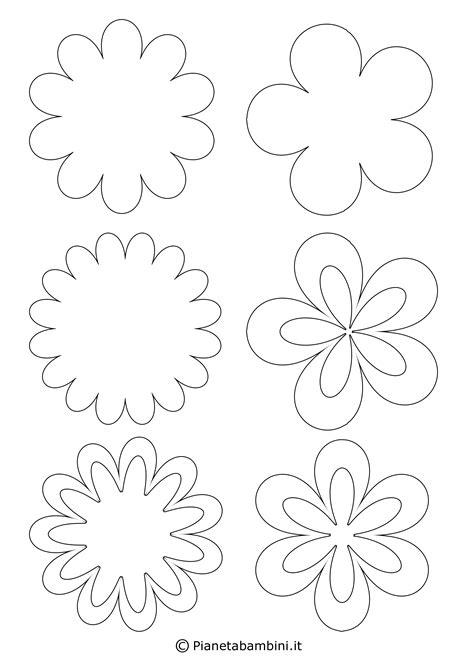 fiore da ritagliare 54 sagome di fiori da colorare e ritagliare per bambini