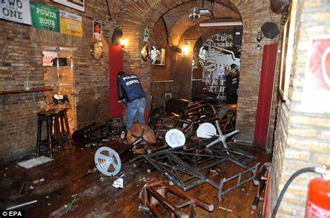 pub co de fiori tottenham fans stabbed in rome ahead of lazio match