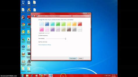 how to change color on windows 8 change taskbar color windows 7