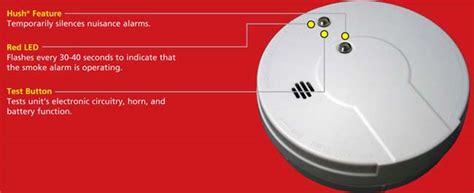 Alert Smoke Detector Blinking Light by Kidde I9060 Battery Operated Ionization Sensor