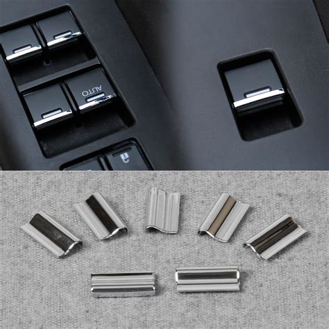 pcs chrome door window switch button cover trim  honda cr  vezel   ebay