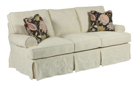 Samantha Three Seat Sofa With Slipcover Tailoring Loose Pillow Back Sofa Slipcover