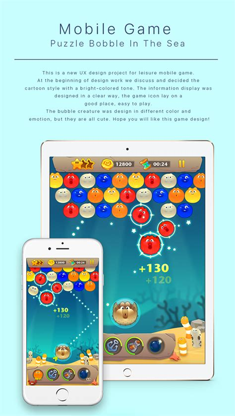design game for ios ios game visual design puzzle bobble on behance