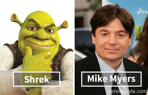 mike myers voice of shrek 13 iconic cartoon characters and the actors who voiced