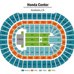 Honda Center Directions Honda Center Seating Chart With Rows Car Interior Design