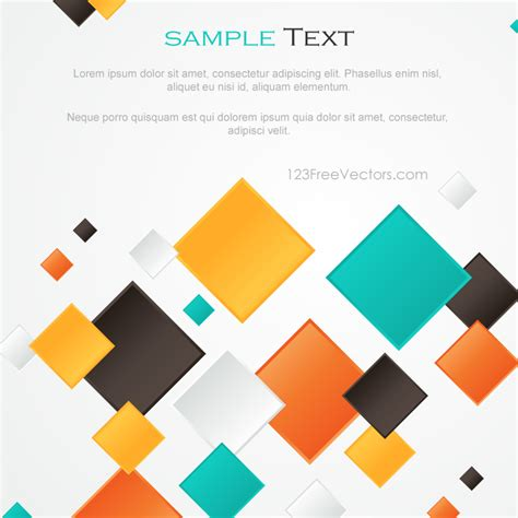 design is square multicolor abstract square background design by