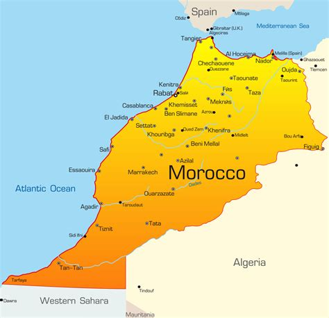 5 themes of geography morocco image gallery morocco map