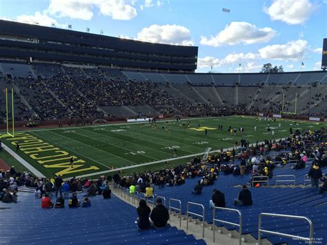 student section at michigan stadium michigan stadium section 6 rateyourseats com