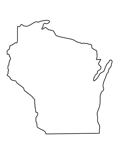 template of state wisconsin pattern use the printable outline for crafts creating stencils scrapbooking and