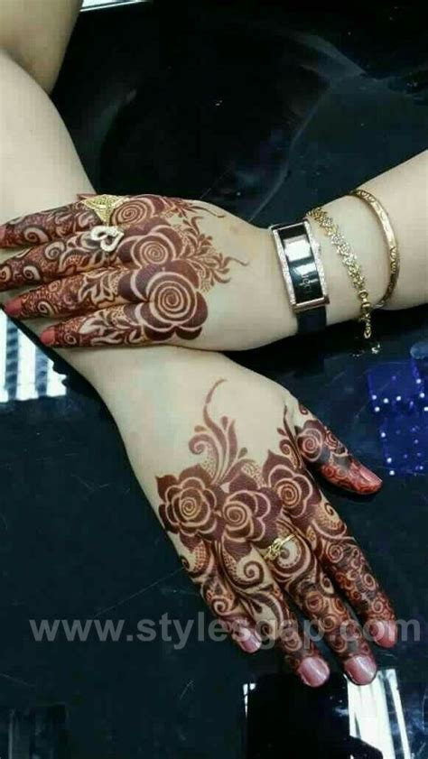 beautiful easy finger mehndi designs   styles