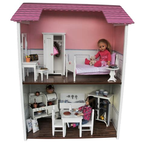 girl house 2 two story doll house sized for 18 inch dolls