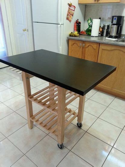 diy portable kitchen island the world s catalog of ideas