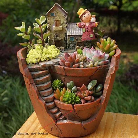 cactus planter sky garden planter herb flower cactus succulent plant