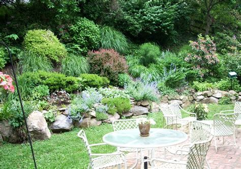 Landscape Pictures Rock Gardens Line Landscaping Design Featuring A Rock Garden