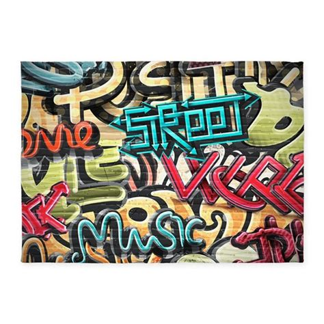 Graffiti Rug by Graffiti Wall 5 X7 Area Rug By Fuzzychair