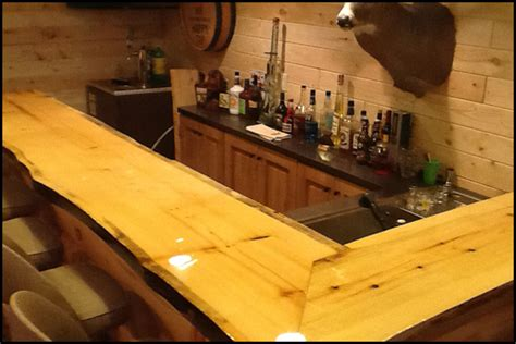 Wood Bar Top Finishes by Bar Top And Table Top Clear Epoxy Resin 1 Gallon