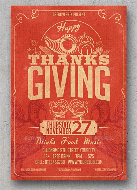 20 best psd thanksgiving flyer templates print idesignow