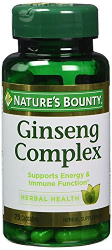 Nature S Bounty Ginseng Complex 75 Capsules herbal and folk remedies