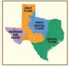 Four Tx Outline Map Features Of Social Studies