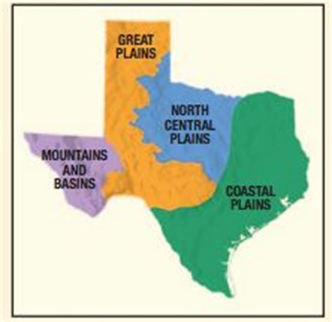 texas four regions map 1000 images about texas on geography social science and powerpoint format
