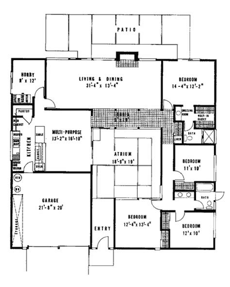 eichler floor plan joseph eichler floor plans eichler real estate