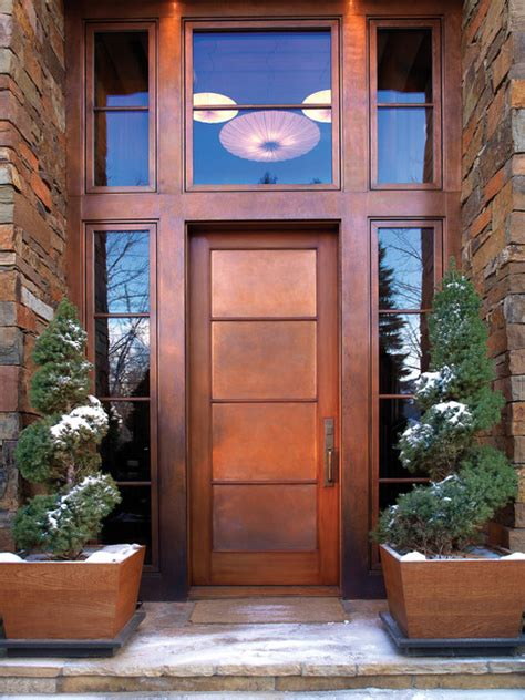 Houzz Exterior Doors Bronze Door Hardware Contemporary Entry Other Metro By Rocky Mountain Hardware
