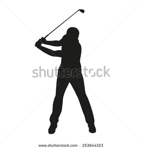 golf swing vector golf swing silhouette stock photos images pictures