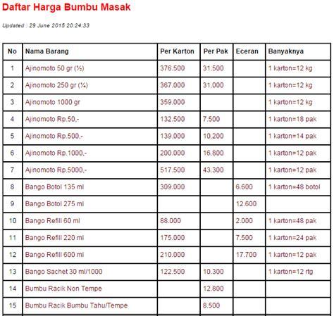 Daftar Minyak Goreng Ngupasan Jaya jual bumbu masak harga murah yogyakarta oleh cv ngupasan jaya