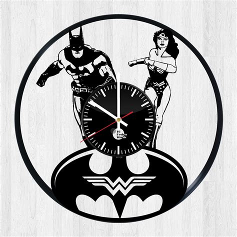 gifts for wonder woman fan batman and wonder woman love handmade vinyl record wall