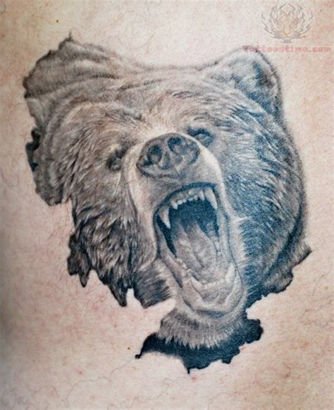 bear head tattoo grizzly wildlife