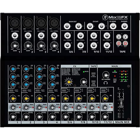 Mackie Mix12fx 12 Channel Compact Mixer With Effects mackie mix12fx 12 channel compact mixer with effects musician s friend