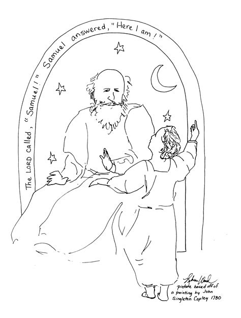 baby samuel coloring page calling of samuel art and the everyday
